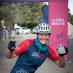 Rider at the finish line owl route